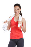 Smiling fitness girl Royalty Free Stock Images