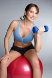 Smiling Fitness Girl stock photography