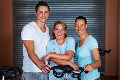 Smiling fitness team Stock Photo