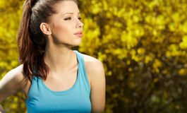 Smiling fitness woman Royalty Free Stock Photos