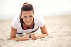 Smiling Fitness Woman Royalty Free Stock Photography