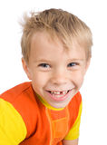 Smiling five-year-old boy Stock Images