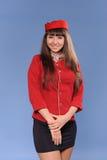 Smiling flight attendant Royalty Free Stock Photo