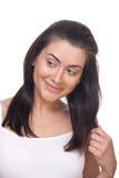 Smiling flirty girl Stock Photos