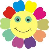 Smiling flower. Computer generated colorful flower image royalty free illustration