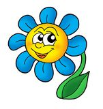 Smiling flower. Color illustration of smiling flower Royalty Free Stock Images