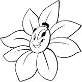 Smiling flower cartoon Vector Clipart Royalty Free Stock Photography
