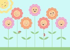 Smiling flowers Royalty Free Stock Images