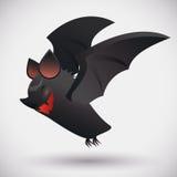 Smiling Flying Bat on White Background, Vector Illustration Royalty Free Stock Images