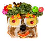 Smiling food face Royalty Free Stock Photography