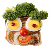 Smiling food face stock photo