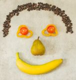 Smiling food face Stock Photography