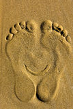 Smiling foot print Princess Stock Photo