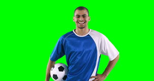 Smiling football player performing a skill stock video