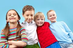 Smiling four Royalty Free Stock Photography