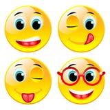 Smiling four vector balls Royalty Free Stock Photos
