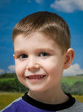 Smiling four year old boy Royalty Free Stock Photos