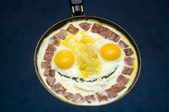 Smiling fried eggs Royalty Free Stock Photography