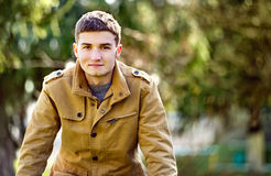 Smiling friendly attractive young man Royalty Free Stock Image
