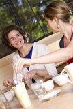 Smiling Friendly Coffee Taster Royalty Free Stock Photography