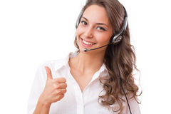Smiling friendly office girl. royalty free stock photography