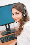 Smiling friendly office girl. Stock Photos