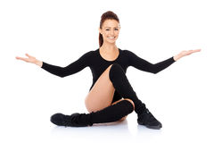 Smiling friendly supple woman Stock Image