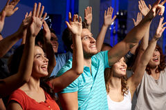 Smiling friends at concert in club Stock Photography