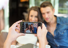 Smiling friends taking selfie photo Royalty Free Stock Photo
