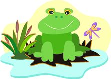 Smiling Frog Royalty Free Stock Photography