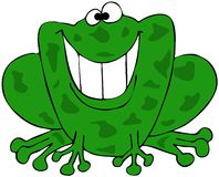 Smiling frog. This illustration depicts a frog with a giant, toothy smile Royalty Free Stock Images
