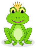 Smiling frog princess royalty free stock photography