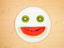 Smiling fruit Stock Photos