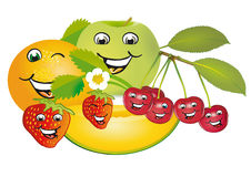 Smiling fruit Stock Image