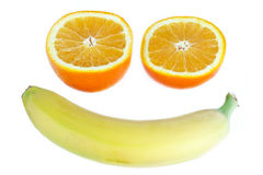 Smiling fruits Stock Photography