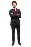 Smiling full length businessman Royalty Free Stock Images