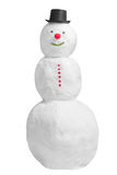 Smiling full snowman. Smiling full length snowman isolated on a white background Stock Photo