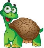 Smiling fun tortoise on a white Royalty Free Stock Image