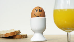 Smiling funny egg Stock Photography
