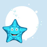 Smiling funny starfish concept. Stock Photo