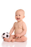 Smiling future soccer player Royalty Free Stock Images
