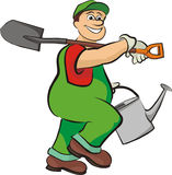 Smiling gardener - in working clothes Stock Images