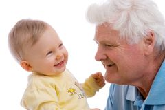 Smiling generations Stock Photo