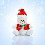Smiling Generic Christmas Snowman Toy Royalty Free Stock Photo