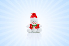 Smiling Generic Christmas Snowman Toy Stock Photo