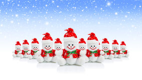 Smiling Generic Christmas Snowman Toy Royalty Free Stock Photos