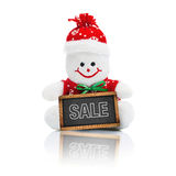 Smiling Generic Christmas Snowman Toy Royalty Free Stock Photography