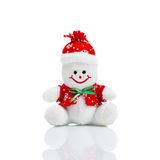 Smiling Generic Christmas Snowman Toy Royalty Free Stock Image