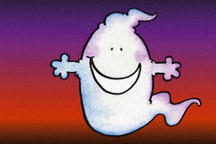 Smiling Ghost. Ghosts don't have to be scary Royalty Free Stock Images