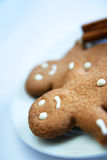 Smiling ginger bread man Royalty Free Stock Photos